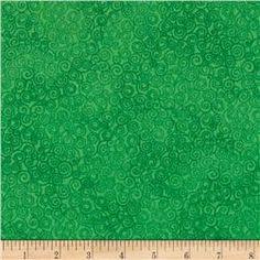 Timeless Treasures Jazz Flannel Green