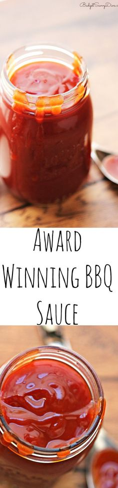 Award Winning BBQ Sauce Award Winning BBQ Sauce Recipe - Homemade BBQ Sauce Recipe that is not only easy but quick. It is perfect BBQ Sauce for pulled pork and ribs. I have made this recipe for years. Homemade Bbq Sauce Recipe, Barbecue Sauce Recipes, Barbeque Sauce, Grilling Recipes, Cooking Recipes, Bbq Sauces, Rib Recipes, Barbecue Chicken, Award Winning Bbq Sauce Recipe