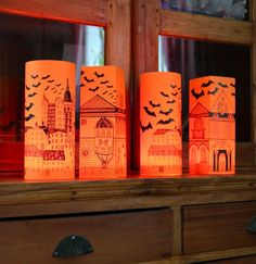 4 Halloween Paper Lanterns - just add candles by Scandinavian Toys designed in Sweden