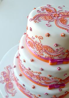 Henna Wedding cake | Flickr - Photo Sharing!