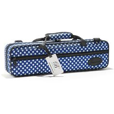 Beaumont Querflötenkoffer  Blaues Punktmuster