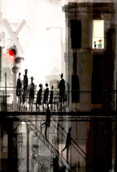 The train stop. #pascalcampionart