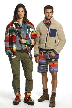 Americana Mode–Native American design motifs and classic prep styles collide for the spring/summer 2014 collection of Polo Ralph Lauren. Beau Brummell, Native American Men, Spring Summer, Spring 2014, Summer 2014, Prep Style, Athletic Fashion, Athletic Style, Portrait