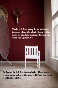 chair right at the edge of the window (see pullback 1 below). You will want the chair about 1-3 feet