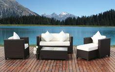 Modern Patio Furniture | Contemporary Lounge Set | Outdoor Wicker Furniture