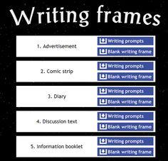 new website by Simon Haughton Writing frames
