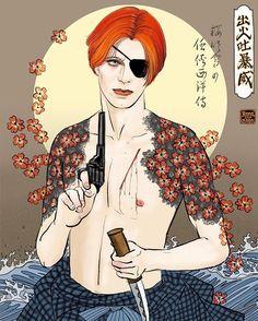 Artwork by Rena Labo David Bowie Tribute, David Bowie Art, Punk, Bowie Starman, Ziggy Stardust, Rock Legends, David Jones, Fantastic Art, Thing 1