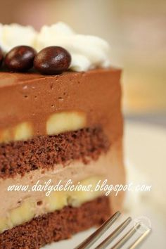 How To Make Chocolate Banana Mousse Cake Desserts Recipe
