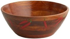 Since 1975 Woodard & Charles has been a leading importer of responsibly produced and environmentally sound salad bowls, casual entertaining accessories and our popular Mesh Food Domes. Our items are expertly handcrafted exclusively in Thailand, the Philippines and Vietnam. Our beautifully... see more details at https://bestselleroutlets.com/home-kitchen/kitchen-dining/dining-entertaining/bowls/salad-bowls/product-review-for-woodard-charles-wood-engraved-salad-bowl-chili-p