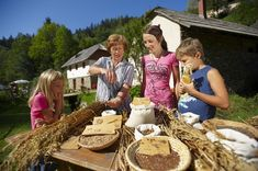 Experience the farming lifestyle for a day!Ever had a taste of the farm life? Escape the city chaos by trying your hand at creating delicious staples of Koroška or get to know the daily tasks of the locals! Plus your children will enjoy it too! Farm Lifestyle, Cultural Experience, Enjoy It, The Locals, Farming, Stuffed Mushrooms, Dishes, Vegetables, City