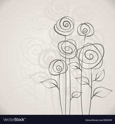 If you can't drawer flowers on your cards, but want a simple but effective front - then simply do flower doodles! How easy can it get? Flower Backgrounds, Flower Wallpaper, Acrylic Painting Flowers, Vector Flowers, Flower Clipart, Simple Doodles, Doodle Patterns, Flower Doodles, Simple Flowers
