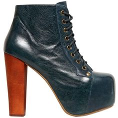 JEFFREY CAMPBELL 120mm Lita Distressed Leather Boots