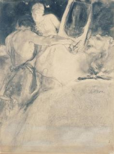 The soul of the artist  Artist: Nikolaos Gyzis Completion Date: 1897 Style: Art Nouveau (Modern) Genre: allegorical painting