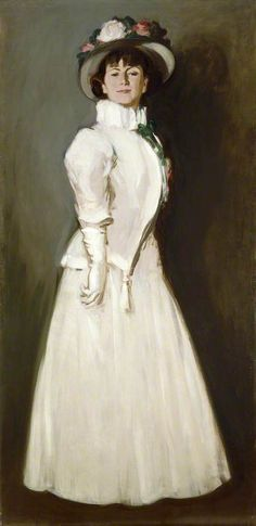 The White Ruff (Anne Estelle Rice, 1877–1959, Artist), 1907, by J D Fergusson *1874-1961)