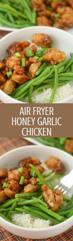 Air fryer gluten free honey garlic chicken * favorite recipes * in 2019 pin Healthy Foods To Eat, Healthy Recipes, Actifry Recipes, Air Fryer Healthy, Honey Garlic Chicken, Air Fryer Recipes, Lunches And Dinners, Main Meals, Asian Recipes