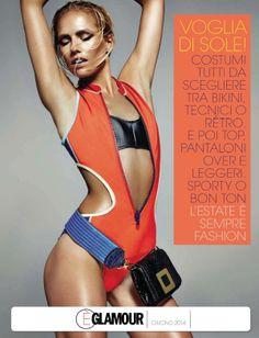 scuba style: tosca dekker by lorenzo bringheli for glamour italia june 2014