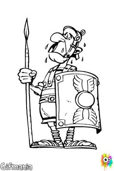 Looking for a Coloriage Imprimer Romain. We have Coloriage Imprimer Romain and the other about Coloriage Imprimer it free. Cartoon Drawing Tutorial, Cartoon Drawings, Ipad Picture, Asterix E Obelix, Roman Soldiers, Simple Cartoon, Vintage Comics, Coloring Pages For Kids, Colorful Pictures