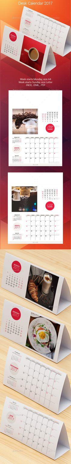 Calendar Pinterest Desk calendars, Calendar 2018 and Desks