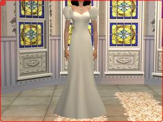 Mod The Sims - Antique Lace and Pearls: Agnes' Wedding Gown