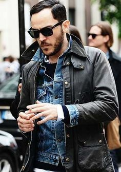 The iconically british Barbour jacket will be one of your best investments this season. Take a look at some of the best menswear styles from the Barbour. Rugged Style, Mens Winter Trends, Layering Outfits, Men Street, Mens Fall Street Style, Jacket Style, Stylish Men, Winter Fashion, Fashion Clothes