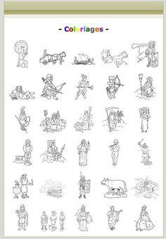 Coloriages autour du monde romain