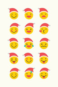 Round yellow Santa emoticon set isolated on beige background vector | premium image by rawpixel.com / wan Emoji, Emoticon, Photo Banner, Christmas Icons, Beige Background, Merry Christmas And Happy New Year, Holidays And Events, Creative Inspiration, Royalty Free Photos