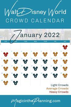 Disney World Crowd Calendar January 2022