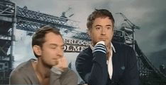 Jude Law & Robert Downey Jr