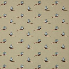 Buy Multi Sophie Allport Pheasant Furnishing Fabric from our View All Fabrics range at John Lewis & Partners. Piano Stool, Cushion Fabric, Country Charm, Curtains With Blinds, Pheasant, Fabric Online, Soft Furnishings, Printing On Fabric, Print Patterns