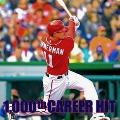 ryan zimmerman's 1000th career hit 06.26.2012