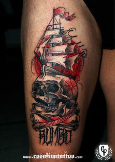 ~ New Traditional tattoo ~ by Carlos Fabra - Cosafinatattoo