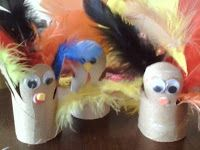Make Turkeys for Thanksgiving out of Toilet paper rolls!