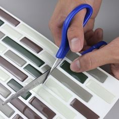 Cheap decorative glass tile, Buy Quality tile pvc directly from China decorative letter tiles Suppliers:  faux tile Vinyl Peel and Stick Tiles Subway Tile Decorative for Bathroom Kitchen  Mosaic Bathroom, Mosaic Backsplash, Bathroom Floor Tiles, Kitchen Tiles, Peel And Stick Tile, Stick On Tiles, Floor Stickers, Cheap Wall Stickers, Home Decor Items
