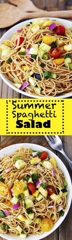 Summer Spaghetti Salad is a wonderful way to enjoy a cold pasta salad.