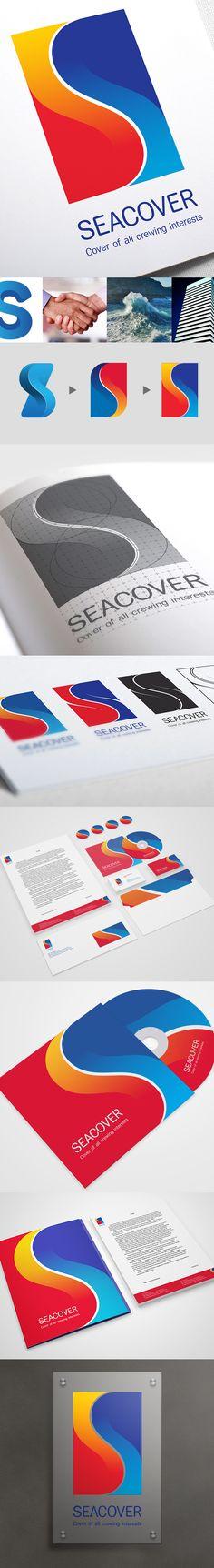 Seacover / Corporate identity by Andriy Bondar, via Behance
