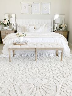 Shabby Chic Bedroom Furniture – 3 Pieces of White Shabby Chic Furniture to Transform Your Bedroom Master Bedroom Design, Home Decor Bedroom, Master Bedroom Furniture Ideas, Bedroom Rugs, Beds Master Bedroom, Romantic Bedroom Design, French Bedroom Decor, Bed Room, French Country Bedrooms