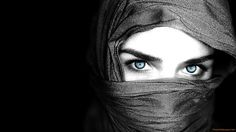 Image for Arab Women Blue Eyes Covered Face Widescreen Hd wallpapers grl0277