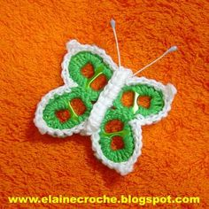 #crochet pull tab butterfly  =>picture tutorial