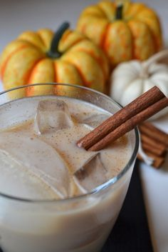 pumpkin pie White Russian. Might replace some cream with Baileys. If it's not sweet enough, make Pumpkin Spice Syrup (½c brown sugar, ½c water, 1T pumpkin pie spice). And maybe use pumpkin pie vodka? Yum!