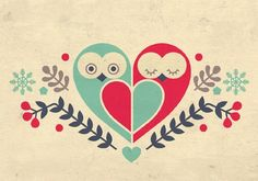 Love these heart-shaped valentine owls!