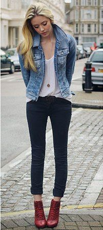Skinny black jeans and denim jacket-Classic. You will see me in ...