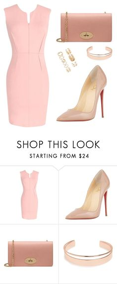 """light"" by tania-alves ❤ liked on Polyvore featuring Christian Louboutin, Mulberry, Leith and Forever 21"