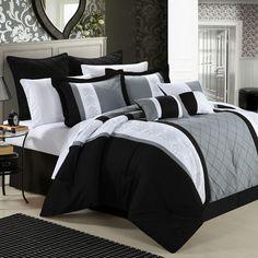 Red Barrel Studio Green River 8 Piece Comforter Set Color: Black, Size: Queen