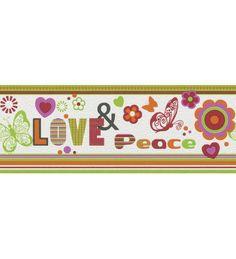 CENEFA INFANTIL KIDS CLUB RASCH C-237917. ¡A 23.90 EUROS! Una divertida cenefa decorativa infantil ideal para la habitación de las niñas. Un toque hippy con flores y mariposas.
