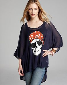 Wildfox Pirate Love Drapey Tee from Bloomingdale's