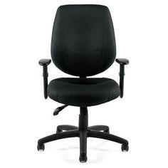 Offices To Go Adjustable Ergonomic High-Back Desk Chair Upholstery: Black