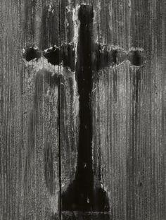 Wooden Grave Marker, near Guadalupe, California, ca 1928, Ansel Adams. (1902 - 1984)