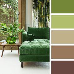 sofá verde : via MIBLOG