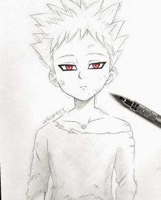 Ban the Ban, Ban, Ban of the seven deadly sins - Ban the Ban, Ban, Ban of the seven deadly sins - Naruto Drawings, Anime Drawings Sketches, Anime Sketch, Manga Drawing, Manga Art, Anime Chibi, Manga Anime, Manga Eyes, Seven Deadly Sins Anime