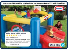 Little Tikes Junior Sports 'n Slide Bouncer!